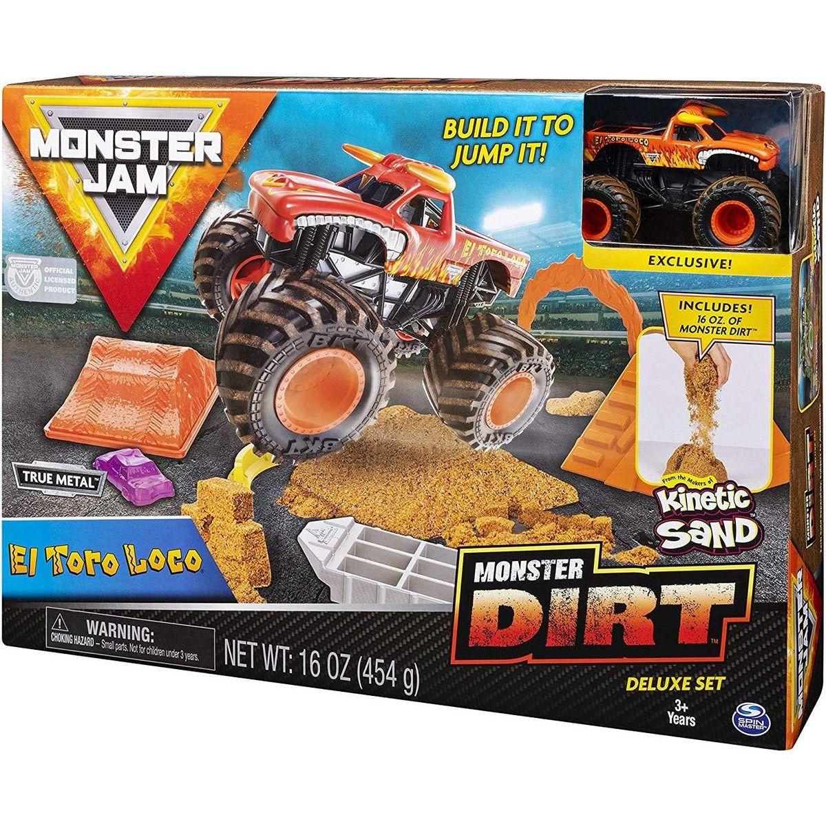 Spin Master Monster Jam sada s tekutým pieskom Delux El Toro Loco