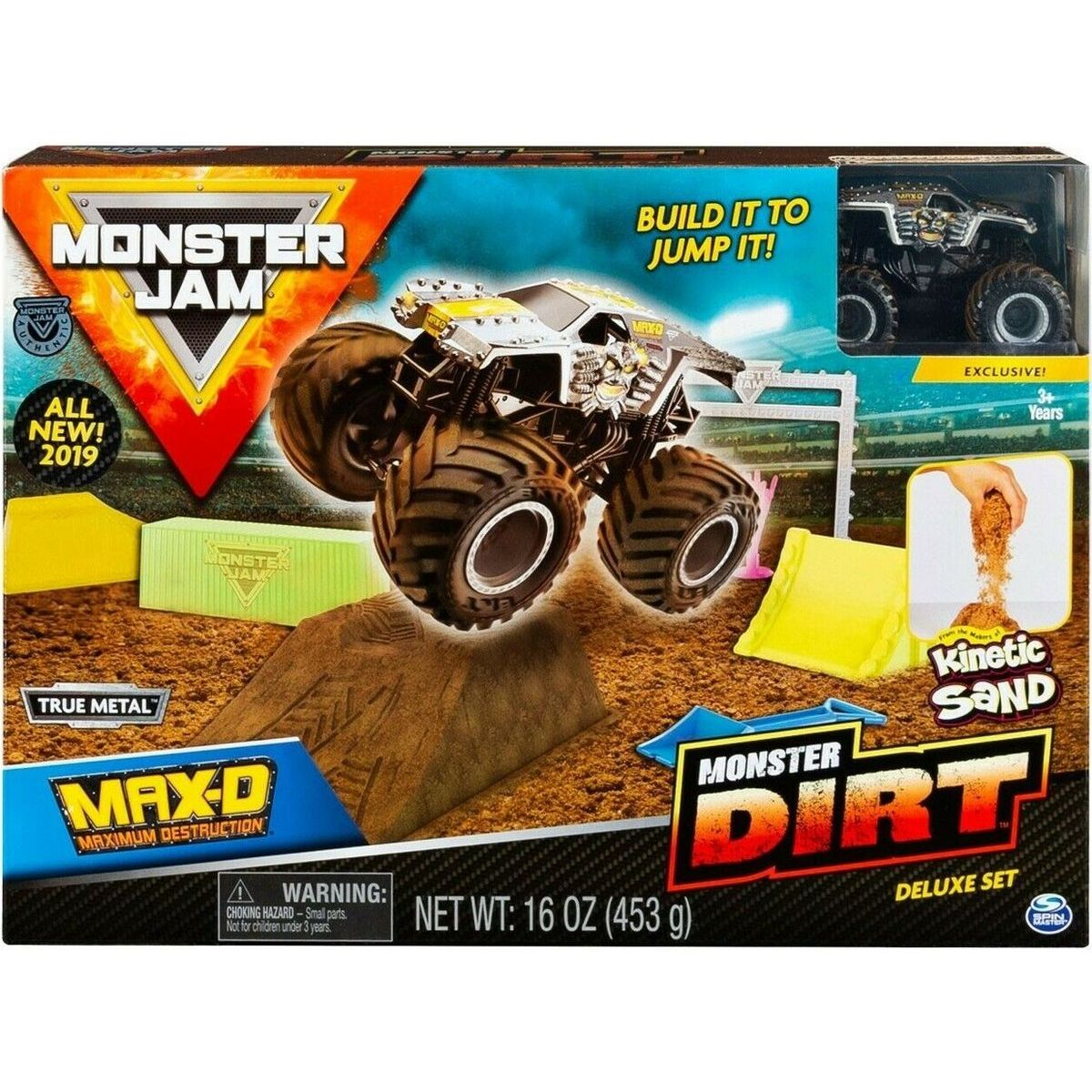 Spin Master Monster Jam sada s tekutým pieskom Delux Max - D