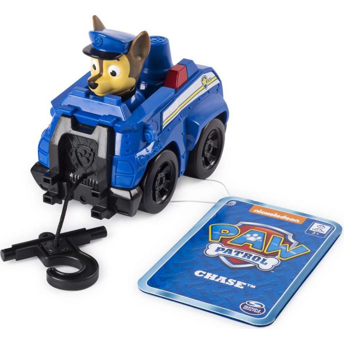 Spin Master Paw Patrol Malá vozidlá s figúrkou Chase auto s navijakom