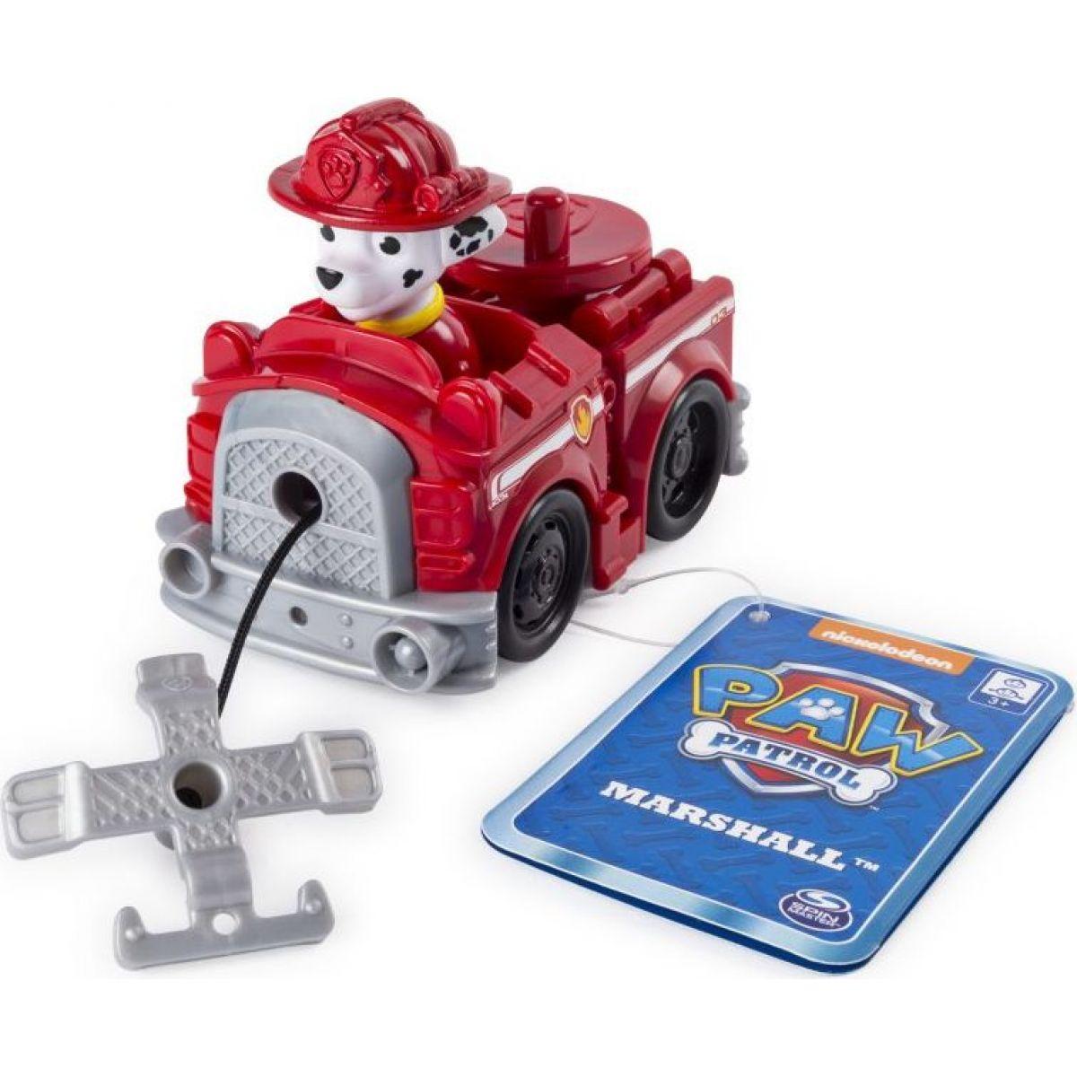 Spin Master Paw Patrol Malá vozidlá s figúrkou Marshall auto s navijakom