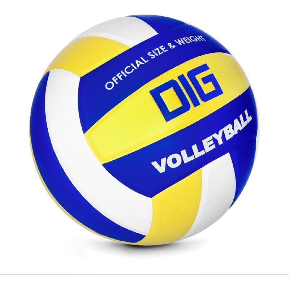 Spokey DIG II Volejbalová lopta modro-žltý vel. 5