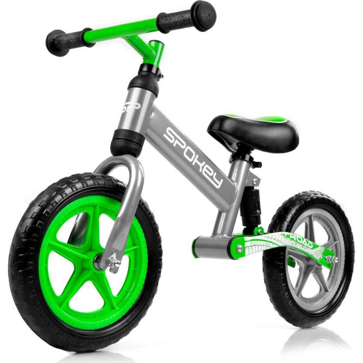 Spokey Off Road Detské odrážadlo šedo-zelené
