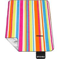 Spokey Picnic Rainbow Pikniková deka s popruhom 180 x 210 cm 4