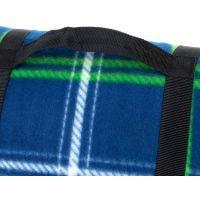 Spokey Picnic Tartana Pikniková deka s popruhom 150 x 180 cm modrá 2