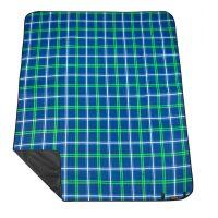 Spokey Picnic Tartana Pikniková deka s popruhom 150 x 180 cm modrá 3