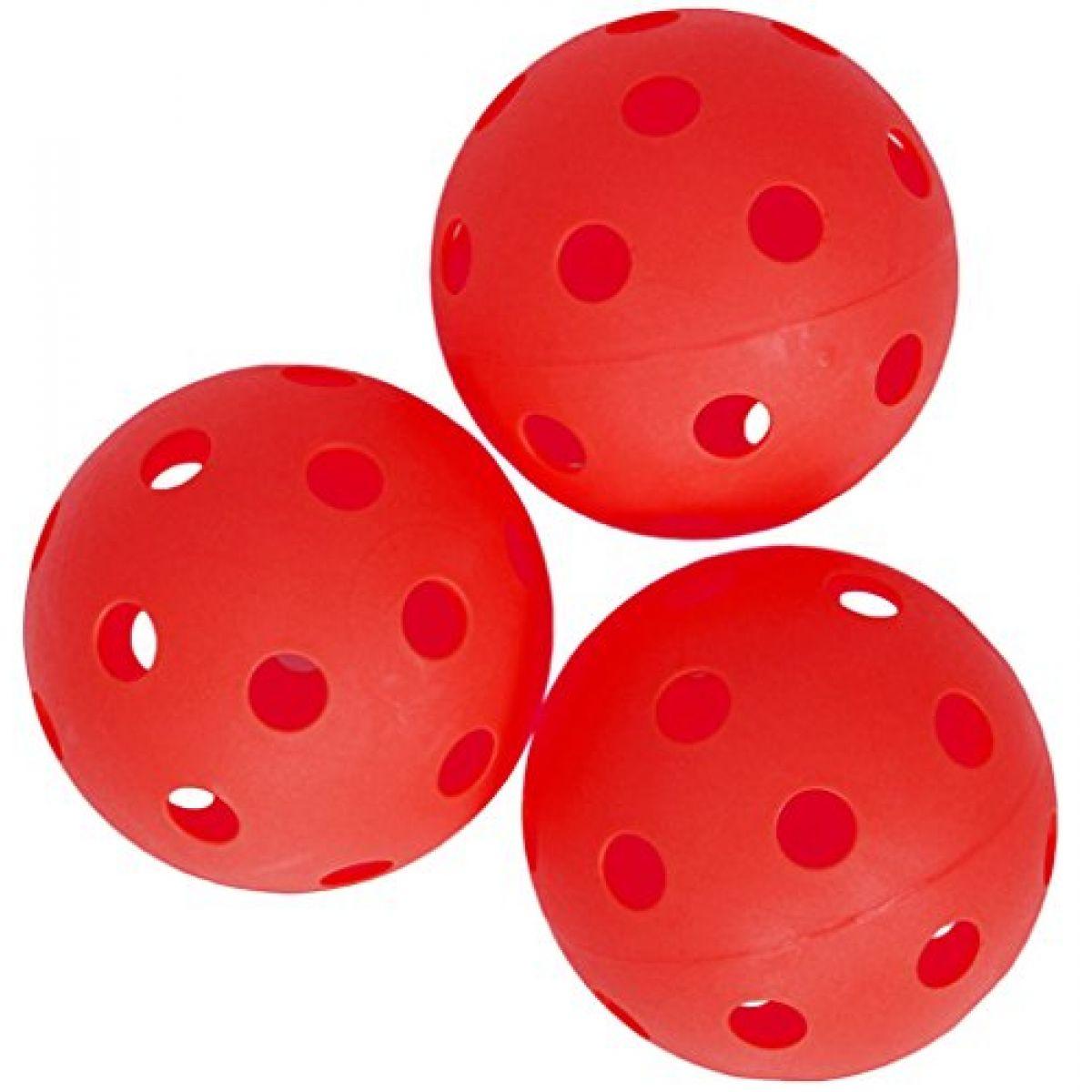 Spokey Turn Florbalové loptičky 3 ks červené
