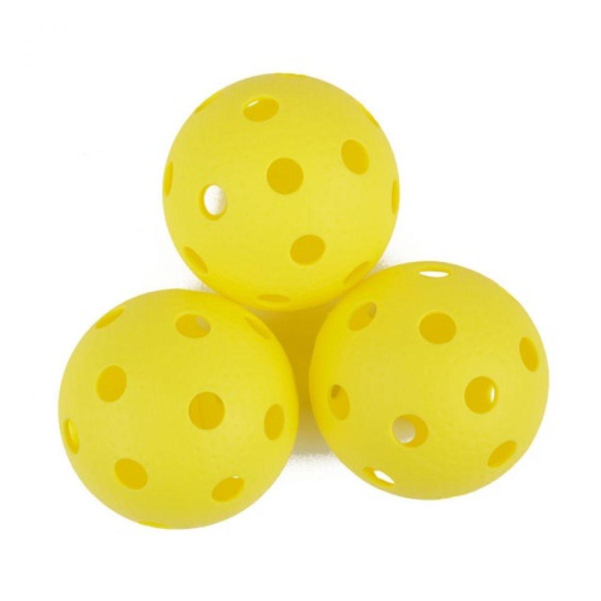 Spokey Turn Florbalové loptičky 3 ks žlté