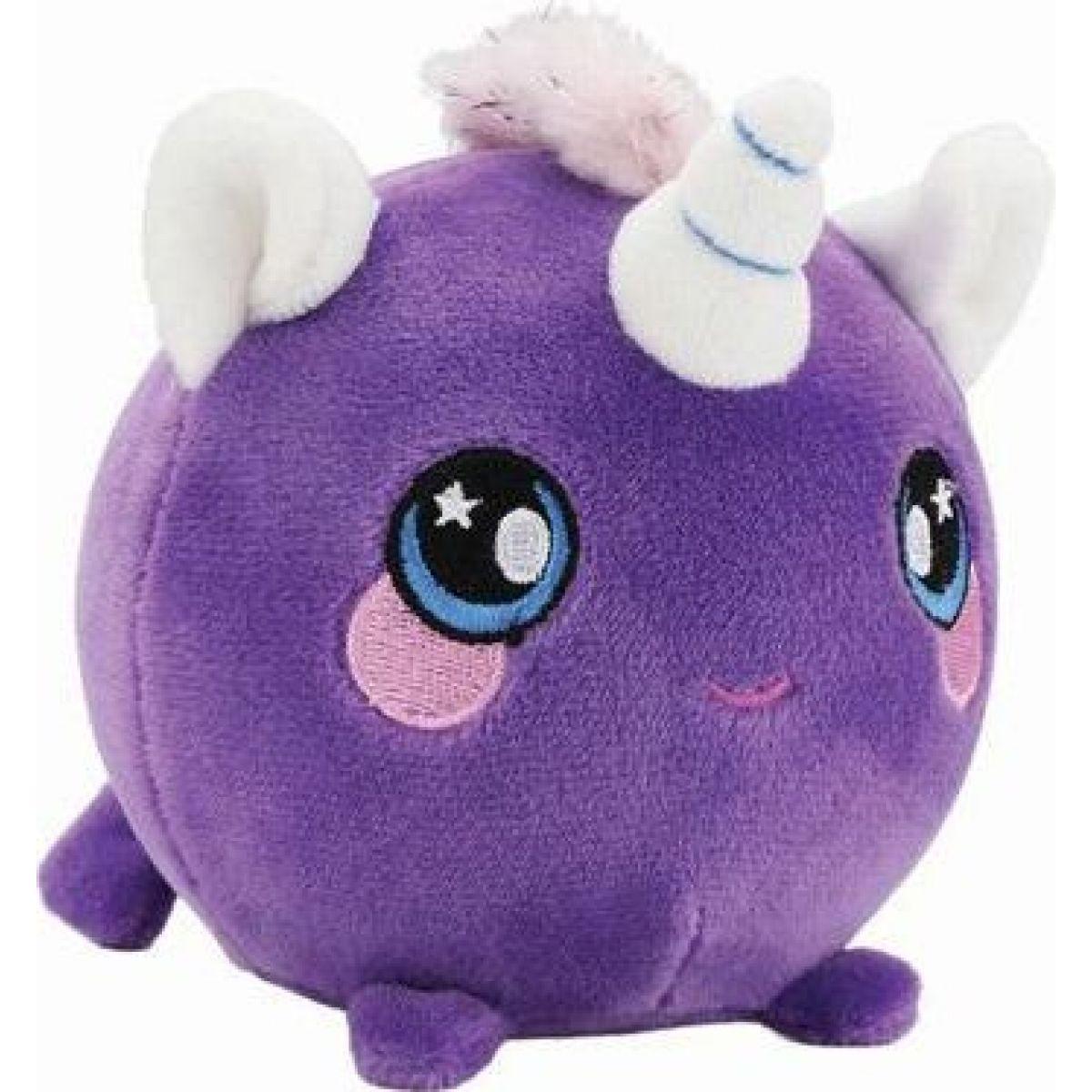 Squeezamals mäkké plyšové zvieratko 9 cm Jednorožec fialový