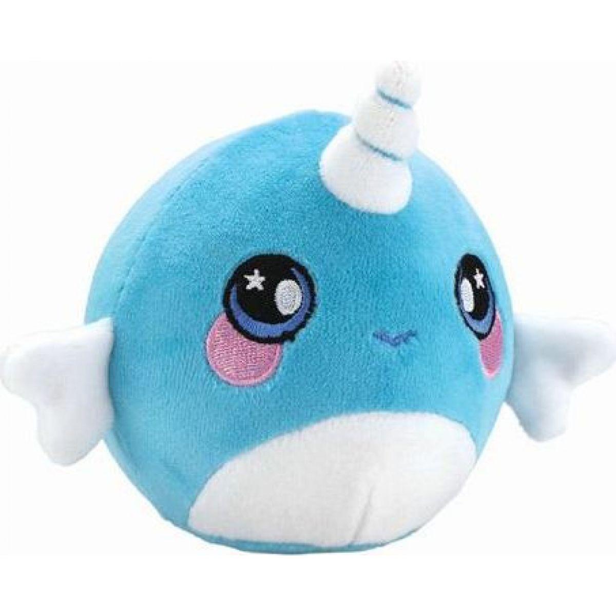 Squeezamals mäkké plyšové zvieratko 9 cm Jednorožec modrý