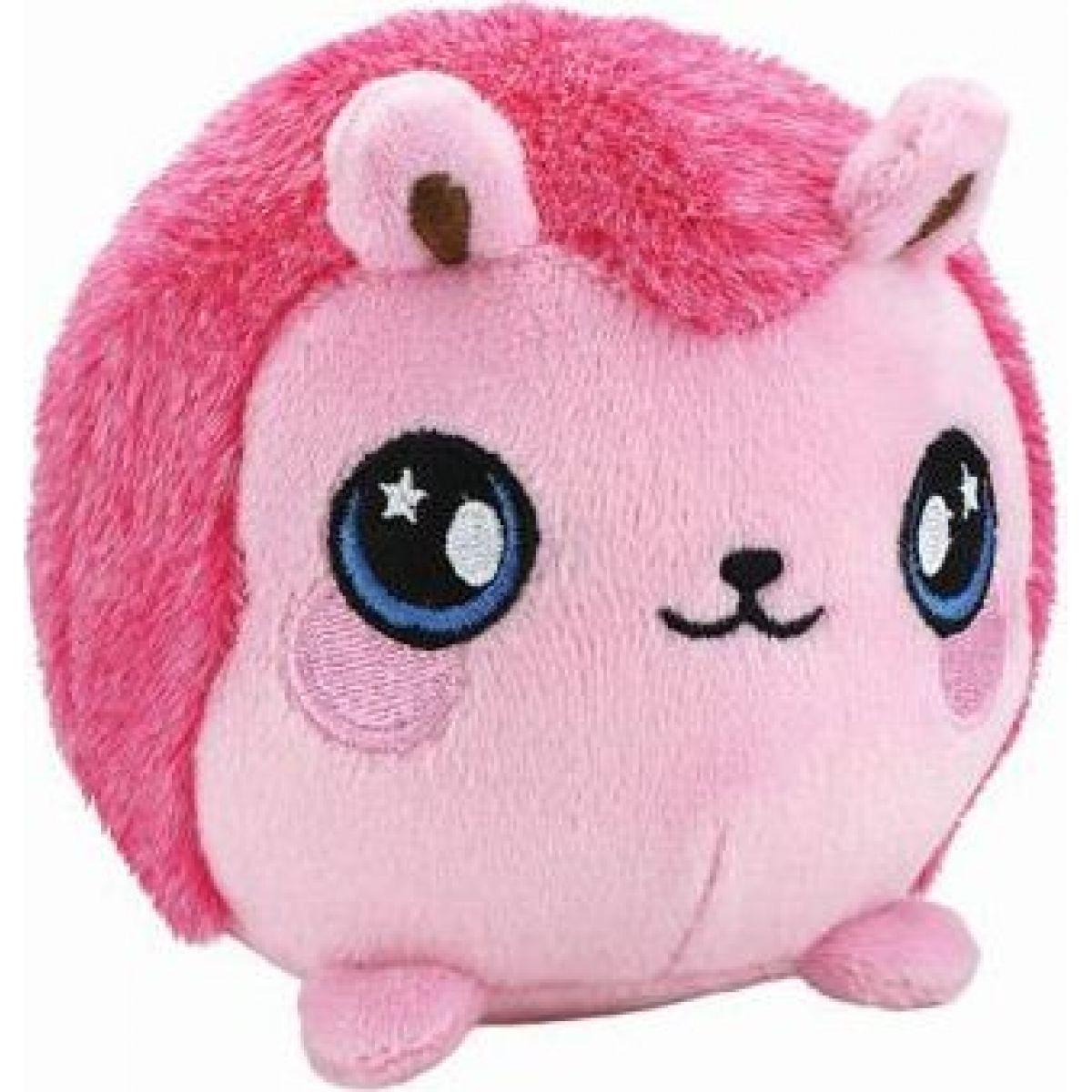 Squeezamals mäkké plyšové zvieratko 9 cm Ježek ružový