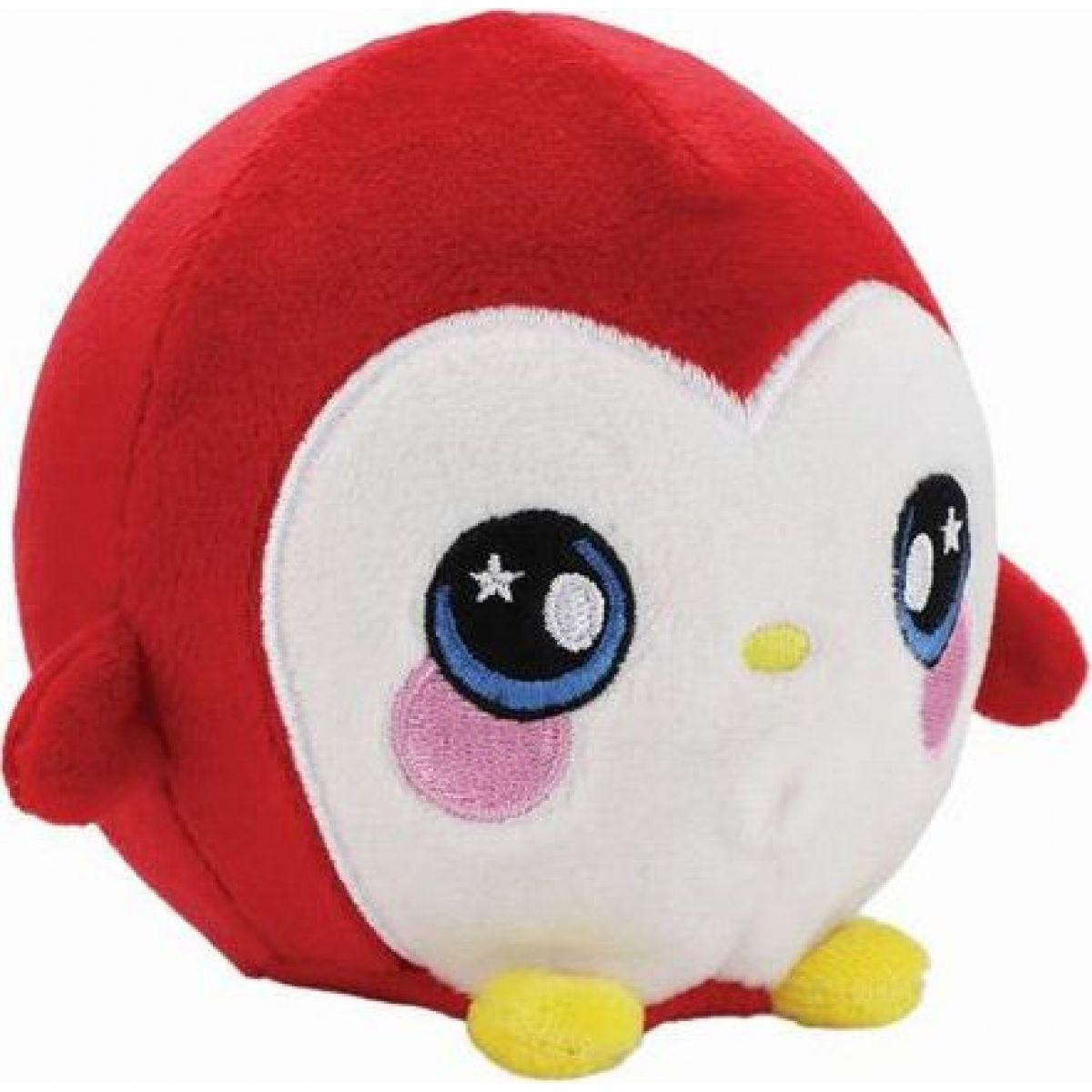 Squeezamals mäkké plyšové zvieratko 9 cm Tučniak červený
