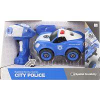 Skrutkovacie policajné auto na diaľkové ovládanie