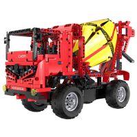 Stavebné stroje na diaľkové ovládanie 2 v 1 Miešačka-Auto s rampou 4
