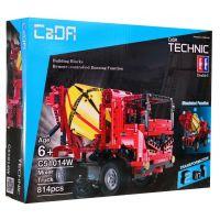 Stavebné stroje na diaľkové ovládanie 2 v 1 Miešačka-Auto s rampou 5