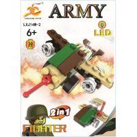 Stavebnice Armáda s LED kostkou 2v1 - Fighter