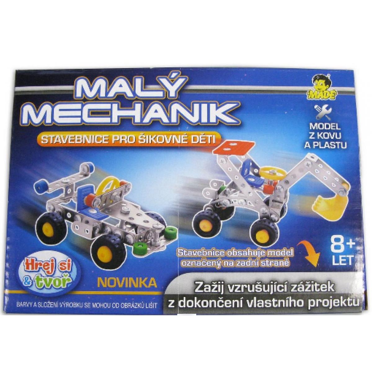 Stavebnica Malý mechanik 4 druhy 17cm