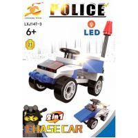 Epee Stavebnica Polícia s LED kockou 2v1 Chase Car