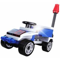 Epee Stavebnica Polícia s LED kockou 2v1 Chase Car 2