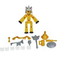 Stikbot action pack figurka s doplňky tmavě žlutý s korunou