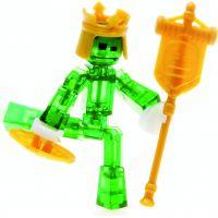 Stikbot action pack figúrka s doplnkami zelený s korunou