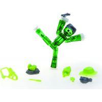Stikbot action pack figúrka s doplnkami zelený so šiltovkou