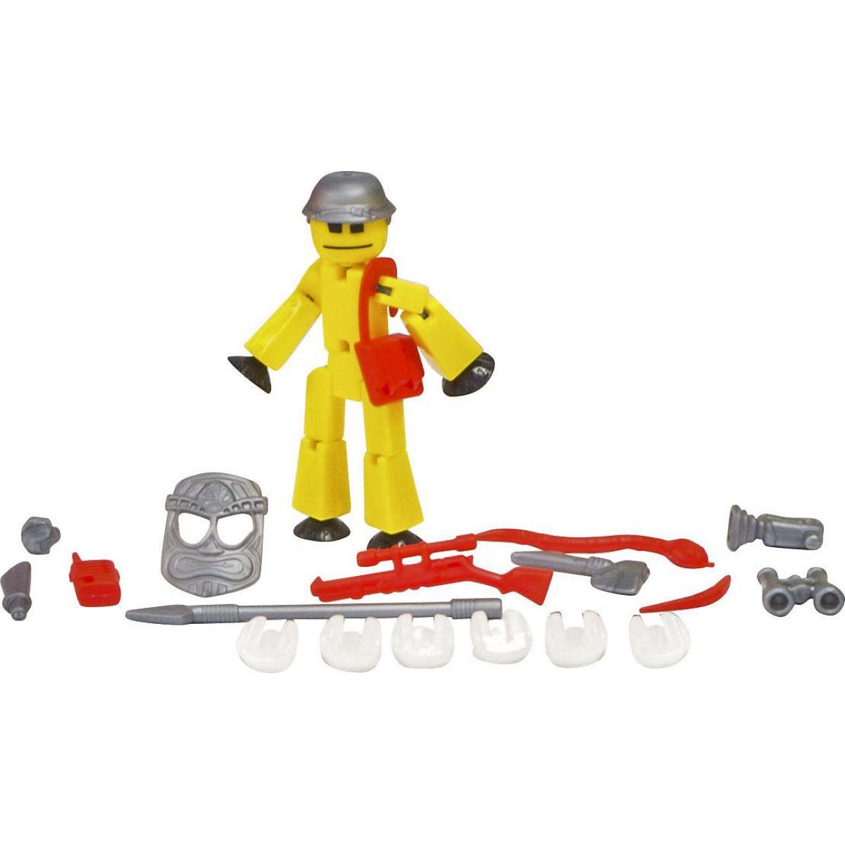 Stikbot action pack figúrka s doplnkami žltý s helmou
