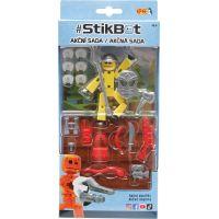 Stikbot action pack figúrka s doplnkami žltý s helmou 2