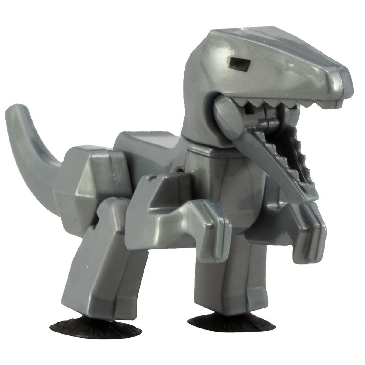 StikBot dino Velociraptor sivý