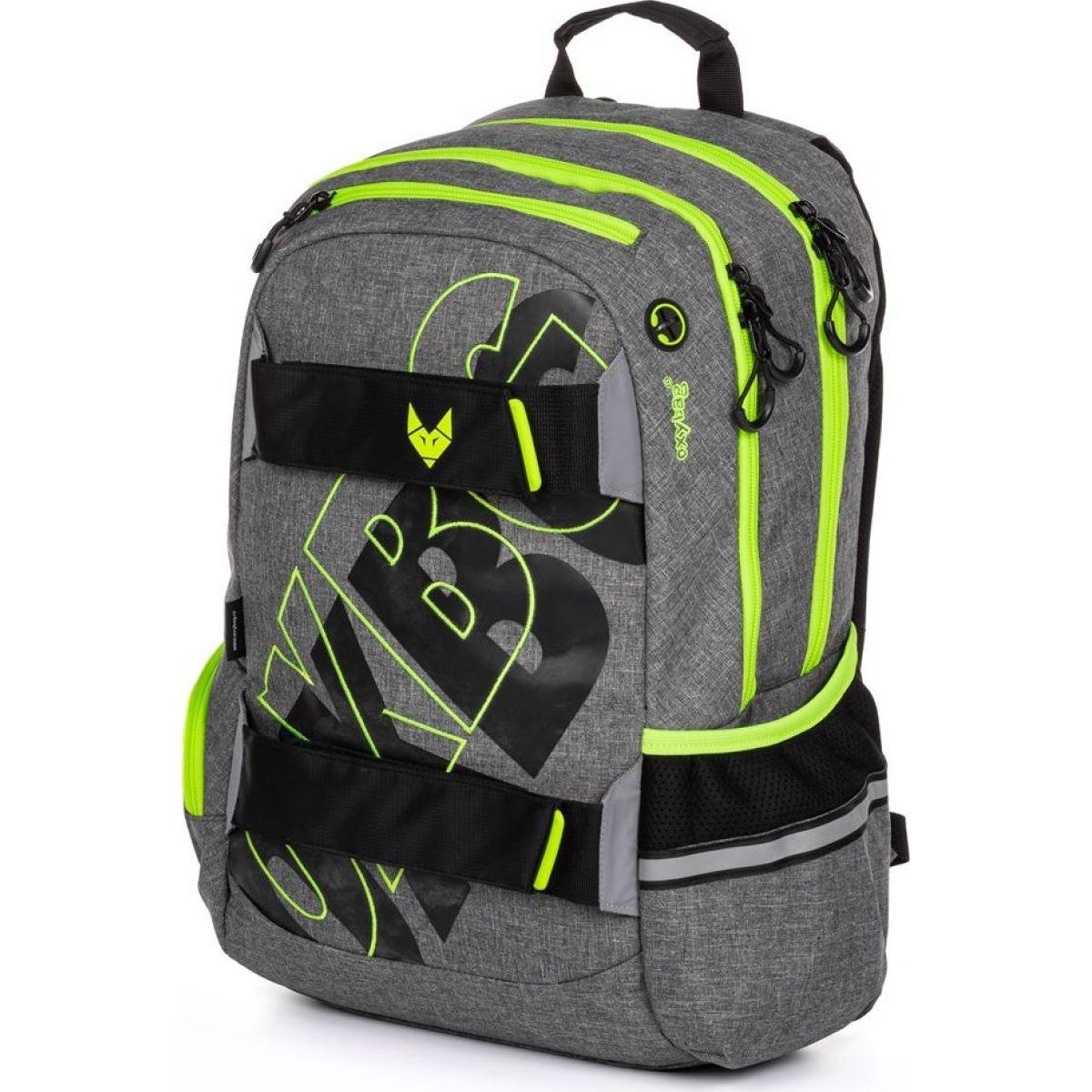 Karton P + P Študentský batoh Oxy Šport Grey Line green