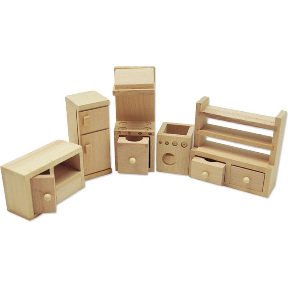 HM STUDIO Dřevěný mini nábytek kuchyně