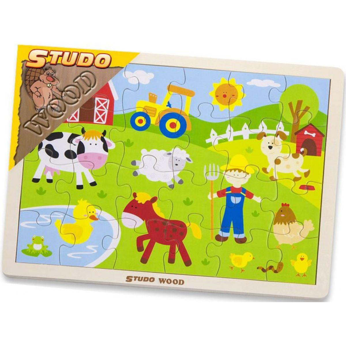Study Wood Puzzle farma 24 ks