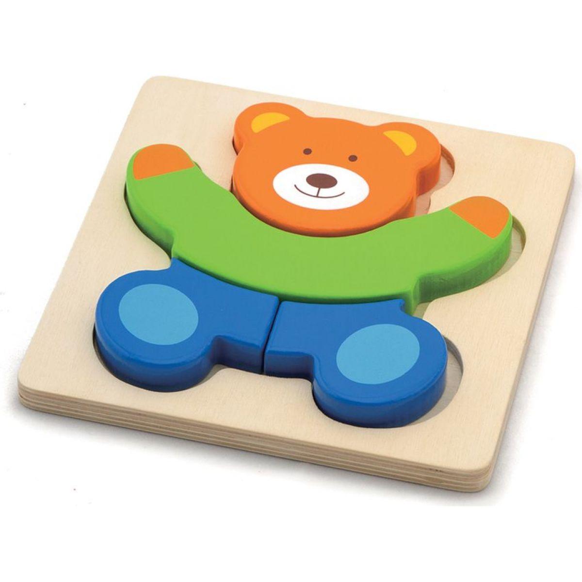 HM Studio Study Wood Puzzle medveď