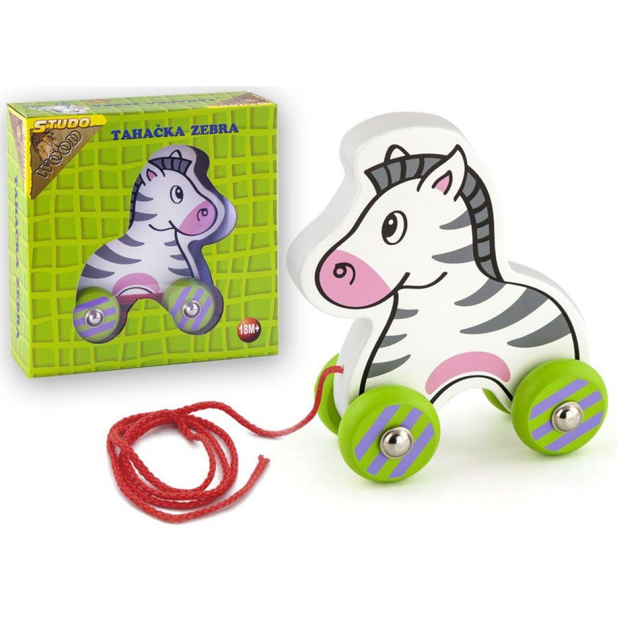 Studo Wood Drevená ťahacia zebra