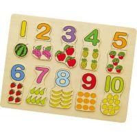 STUDO WOOD Dřevěné puzzle Počítání s ovocem 20 dílků