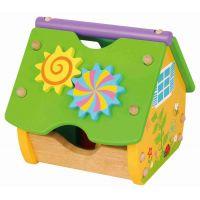 Hm Studio vkládačka dřevěná domeček