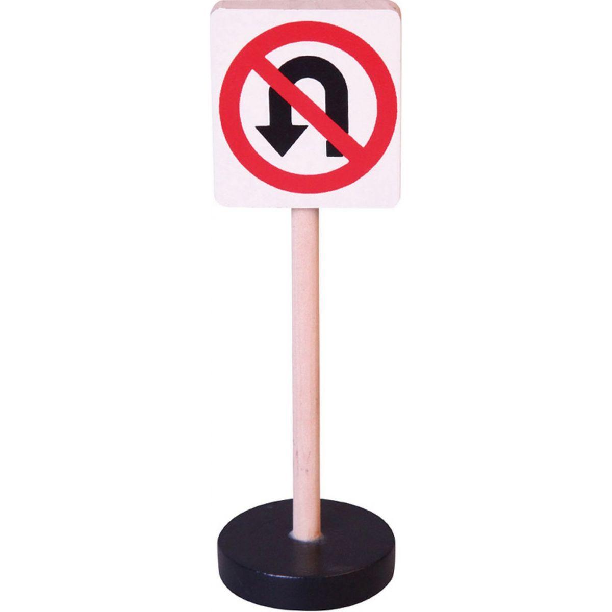 HM Studio Dopravní značka dřevěná Zákaz otáčení