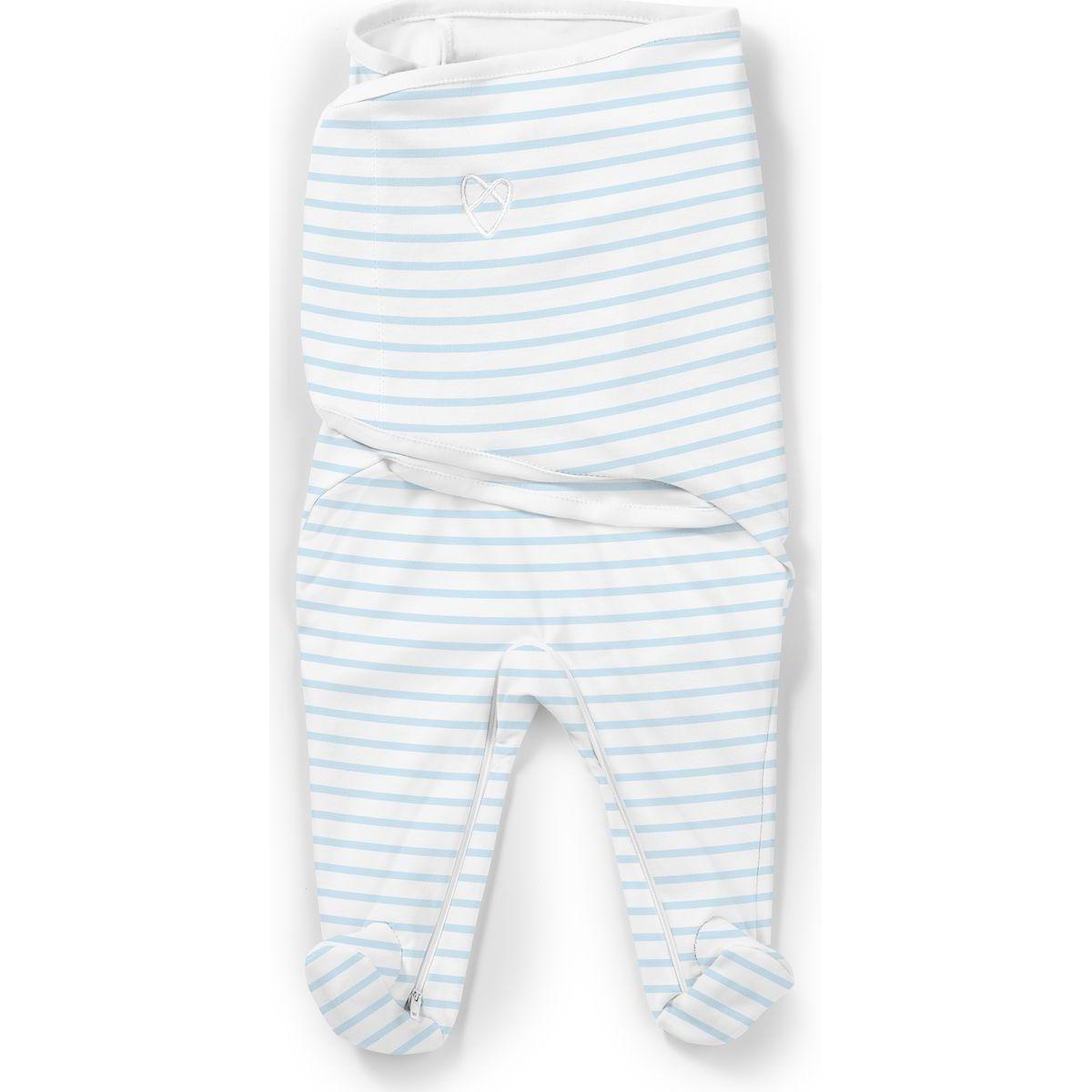 Summer Infant Zavinovačka SwaddleMe Footsie modrý prúžok