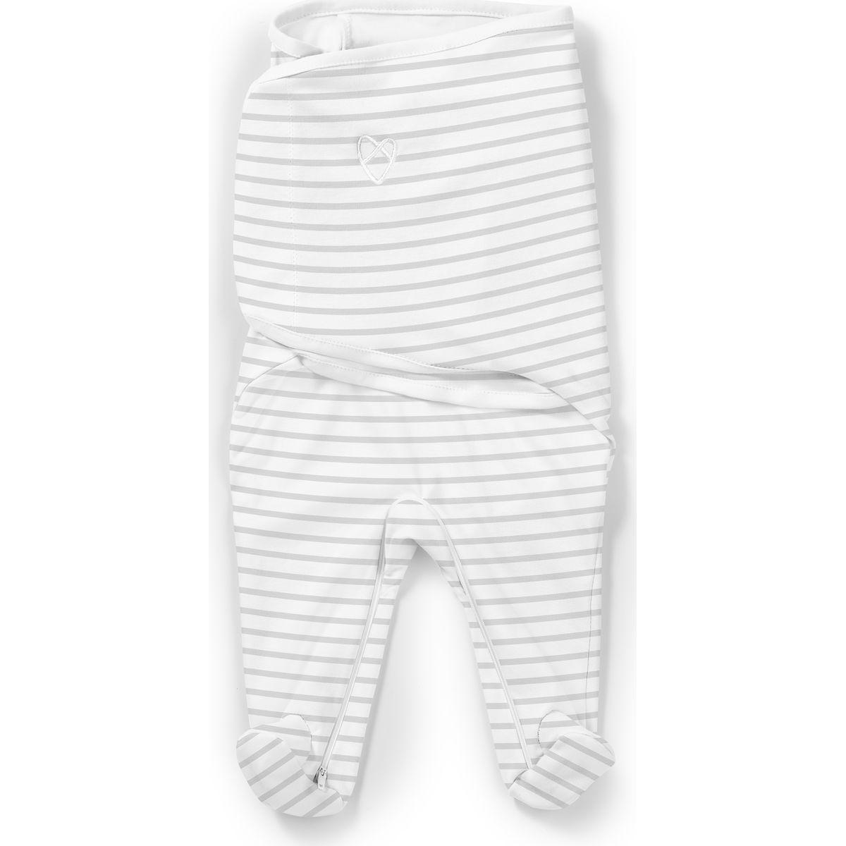 Summer Infant Zavinovačka SwaddleMe Footsie šedý prúžok