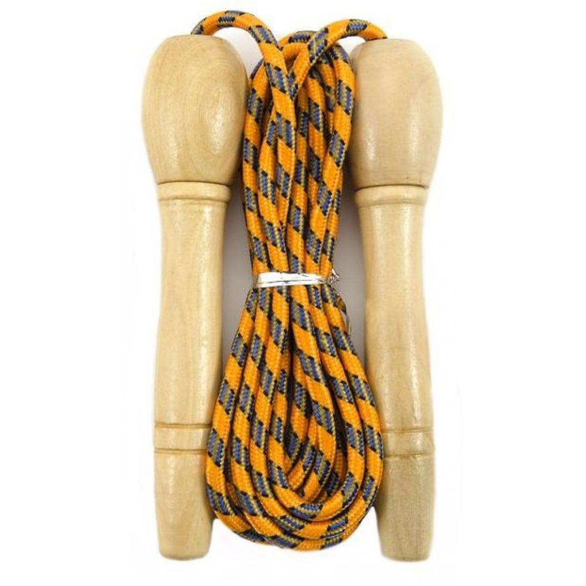 Švihadlo 270 cm s drevenou rukoväťou nastaviteľné oranžové