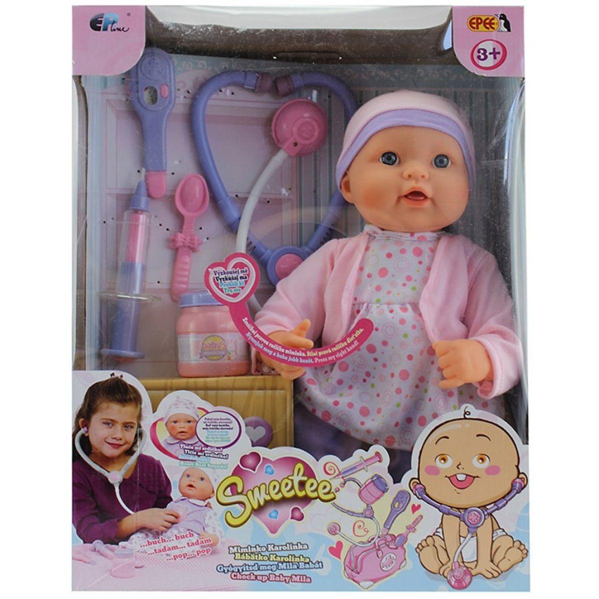Sweetee bábika Karolínka je chorá