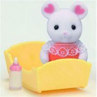 Sylvanian Families Baby Marshmallow myška s příslušenstvím