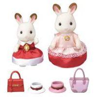 Sylvanian Families chocolate 2 králičí kamarádky v elegantních šatech