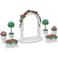 Sylvanian Families Mesto kvetinová výzdoba s bránou
