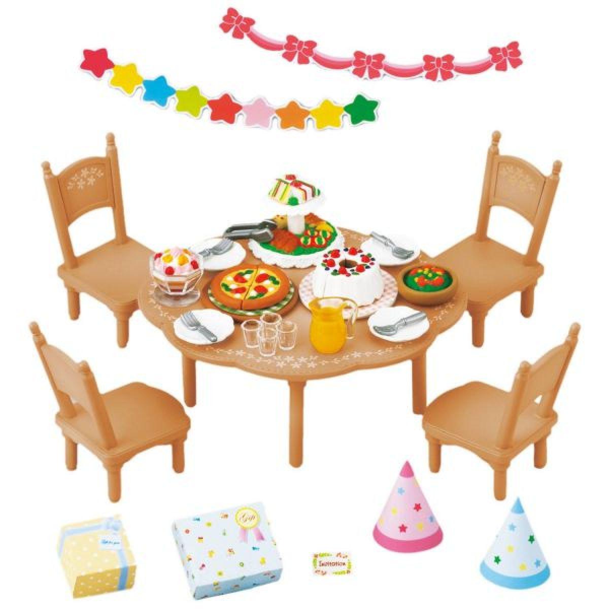 EPOCH 2932 Sylvanian families Nábytek party set