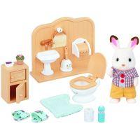 Sylvanian Families Nábytek chocolate králíků bratr a umývárna