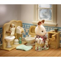 Sylvanian Families Nábytek chocolate králíků bratr a umývárna 4