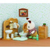 Sylvanian Families Nábytek chocolate králíků bratr a umývárna 5