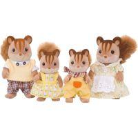 EPOCH 3136 Sylvanian families Rodina hnedých veveričiek