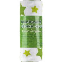 T Tomi Bambusová osuška 100x80 zelená hviezdička