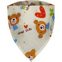 T tomi dětský šátek 1 ks medvídci